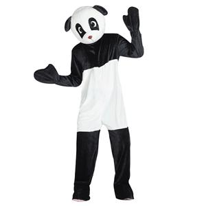 Fato Mascote Panda Sorridente, Adulto