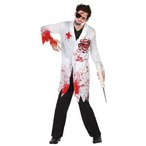 Fato Médico Zombie Sangrento, Adulto