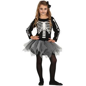 Fato Menina Esqueleto com Tutu, Criança