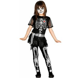 Fato Menina Esqueleto