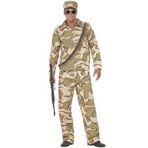 Fato Militar Comando Camuflado, Adulto