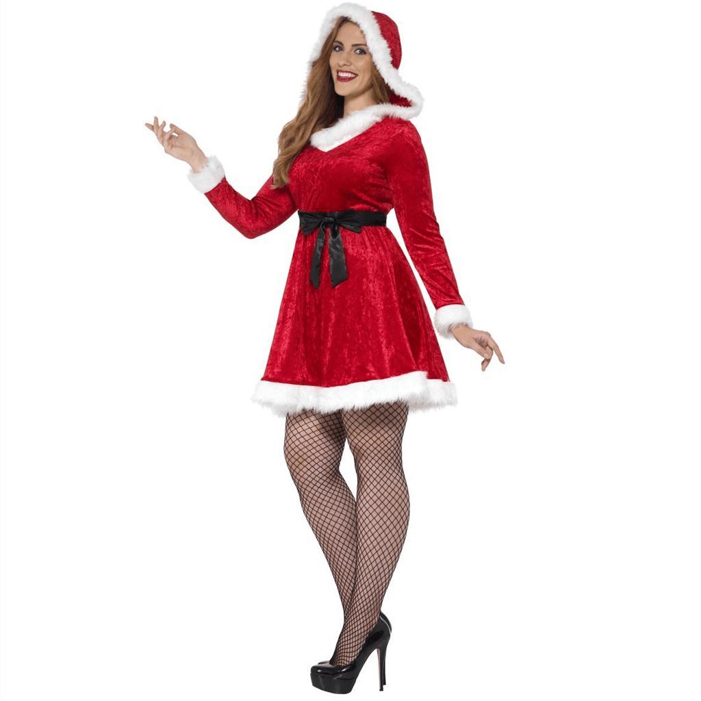 Fato Miss Mãe Natal em Veludo, Adulto