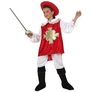 Fato Mosqueteiro Vermelho, Criança