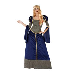 Fato Mulher Medieval Azul, Adulto