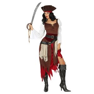 Fato Mulher Pirata Castanho
