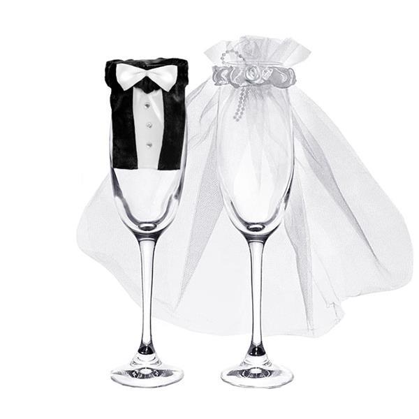 Fato Noiva e Noivo P/ Copos Casamento