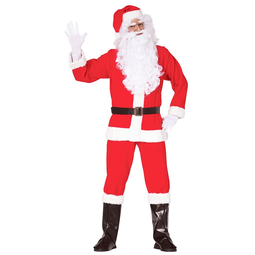 Fato Pai Natal com Barba e Peruca, Adulto