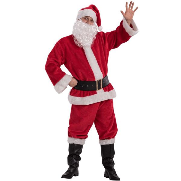 Fato Pai Natal Completo em Veludo, Adulto