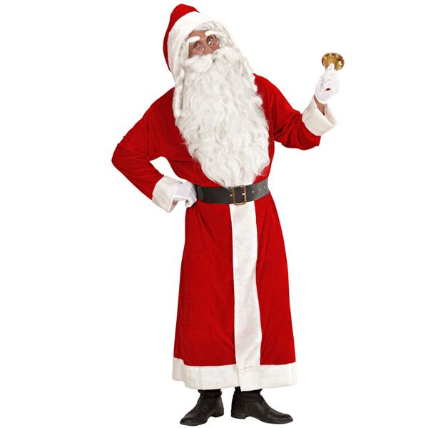 Fato Pai Natal Comprido com Capuz e Cinto, Adulto
