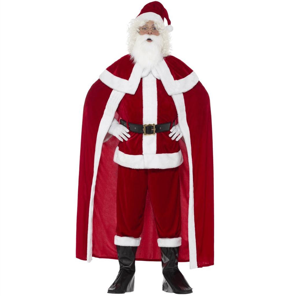 Fato Pai Natal em Veludo Deluxe, Adulto