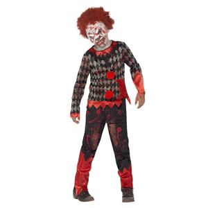 Fato Palhaço Zombie Criança