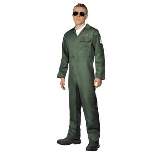 Fato Piloto Caça Força Aérea Verde, Adulto
