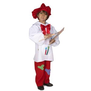 Fato Pintor com Boina Vermelha , Criança