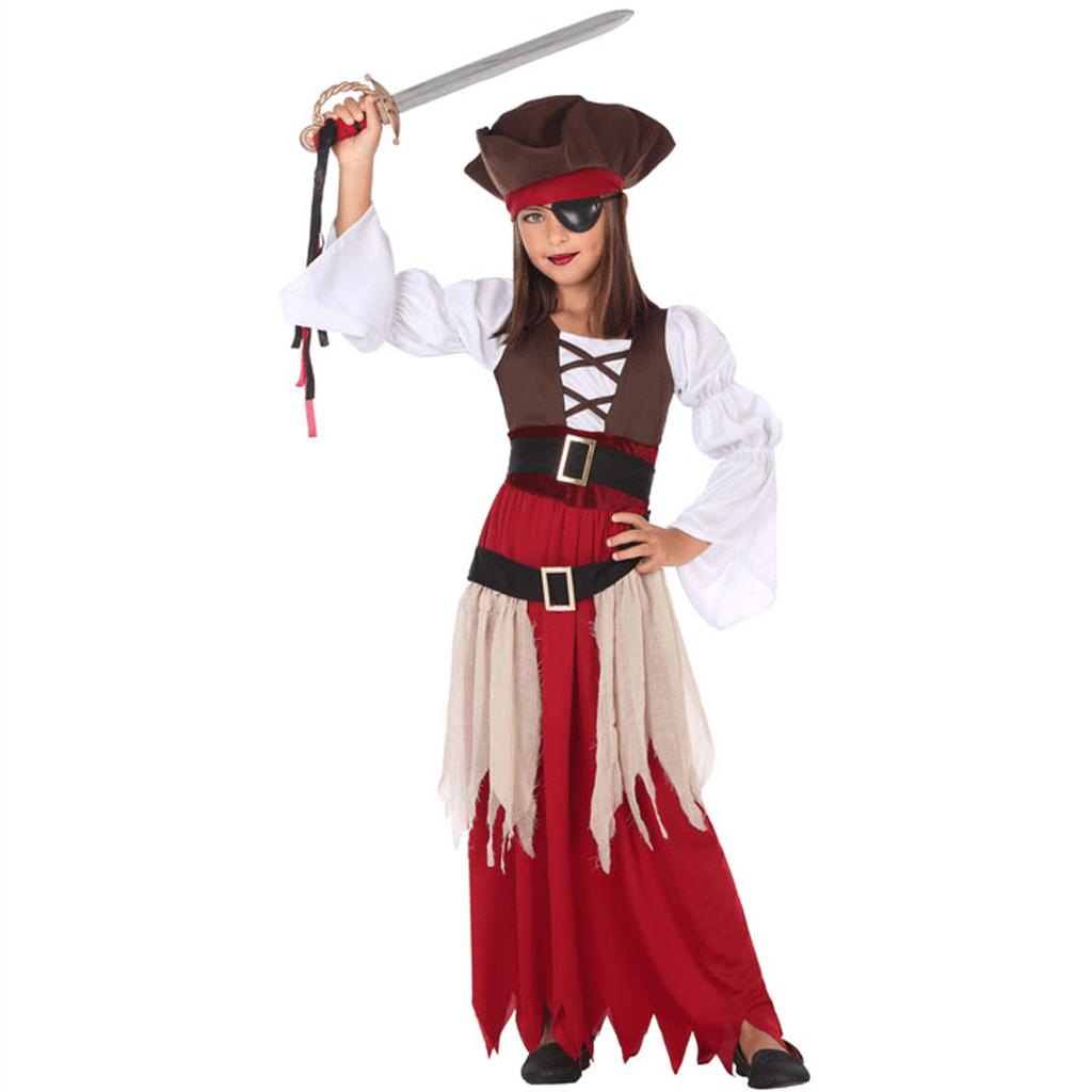 Fato Pirata Castanho, Menina