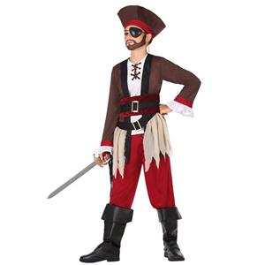 Fato Pirata Castanho, Menino