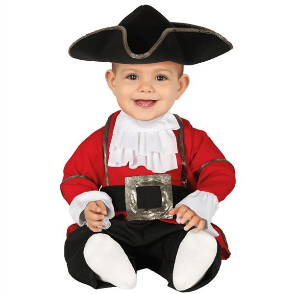 Fato Pirata Corsário Vermelho, Bebé