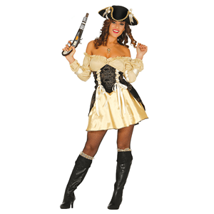 Fato Pirata Dourada