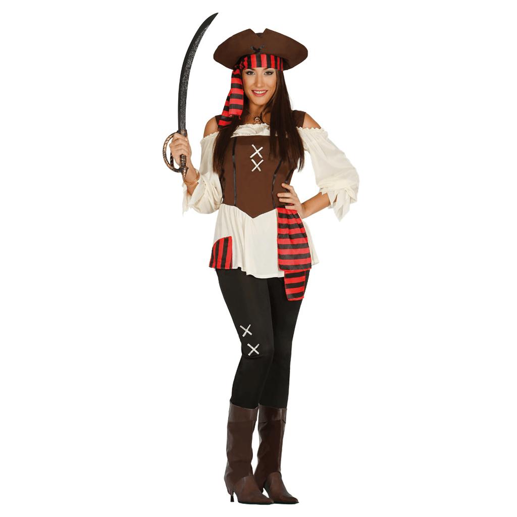 Fato Pirata Sete Mares, Adulto