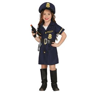 Fato Policia Sorridente Menina