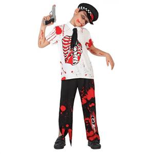 Fato Policia Zombie Menino