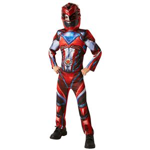 Fato Power Ranger Vermelho Deluxe, Criança