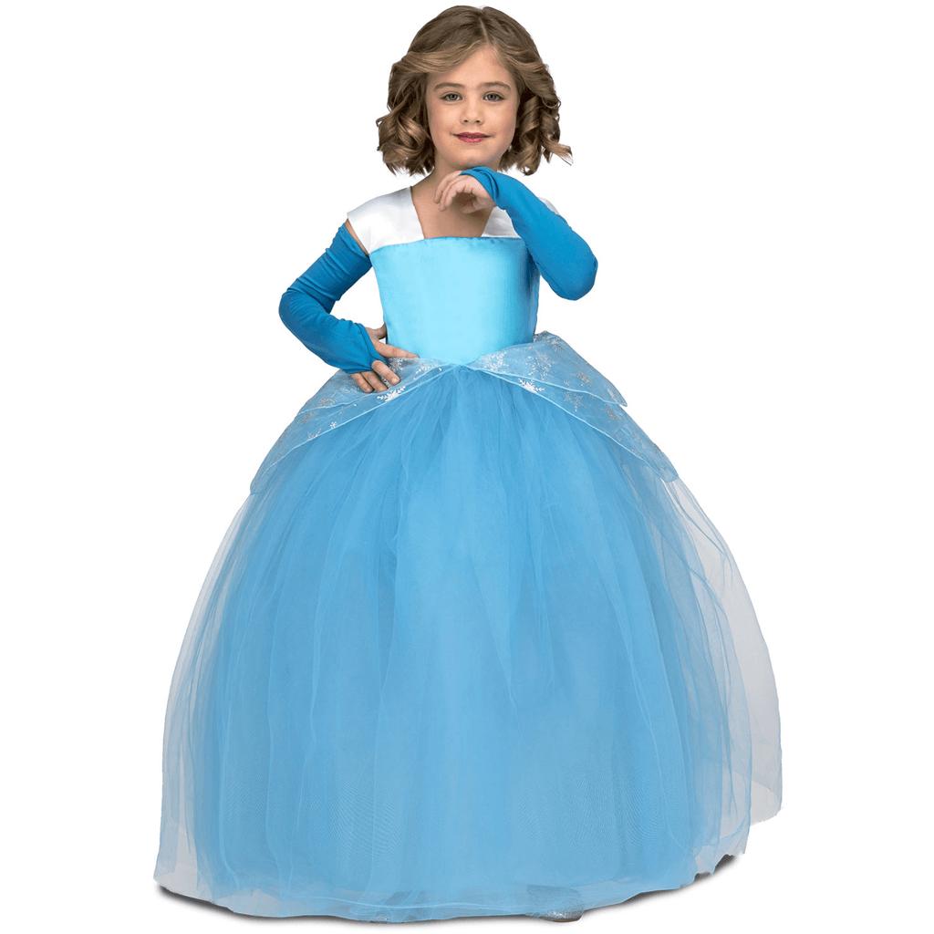 Fato Princesa Azul Tule, Criança