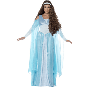 Fato Princesa Medieval Azul , Adulto
