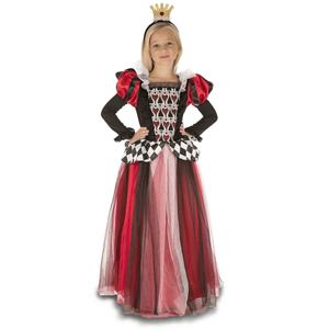 Fato Rainha Corações com Coroa, Criança