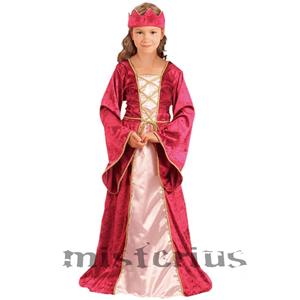 Fato Rainha Medieval / Renascimento, criança