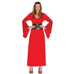 Fato Rainha Medieval Vermelho