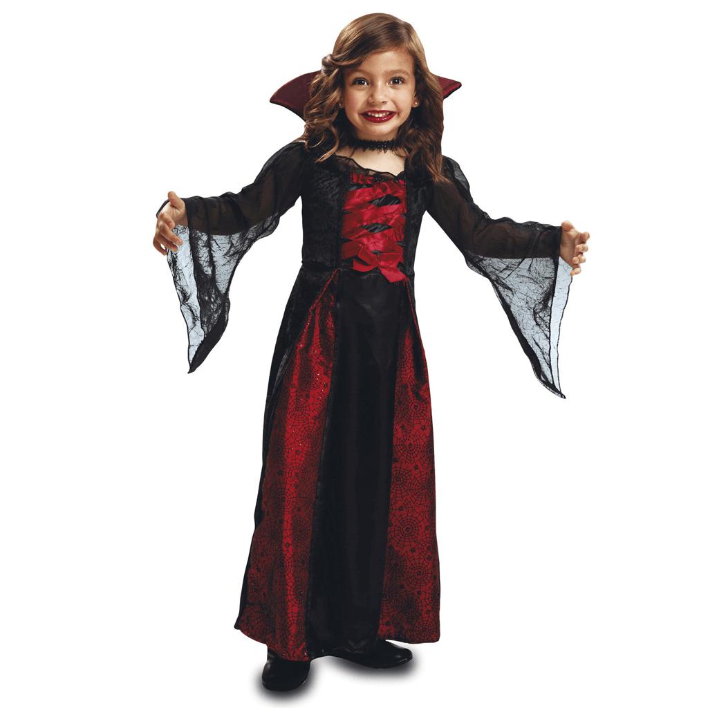 Fato Rainha Vampira com Gargantilha Preta, Criança
