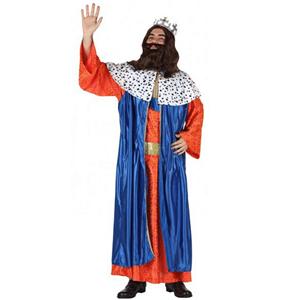 Fato Rei Mago Gaspar Azul, Adulto