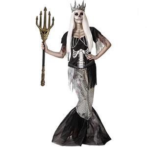 Fato Sereia Rainha Esqueleto, Adulto
