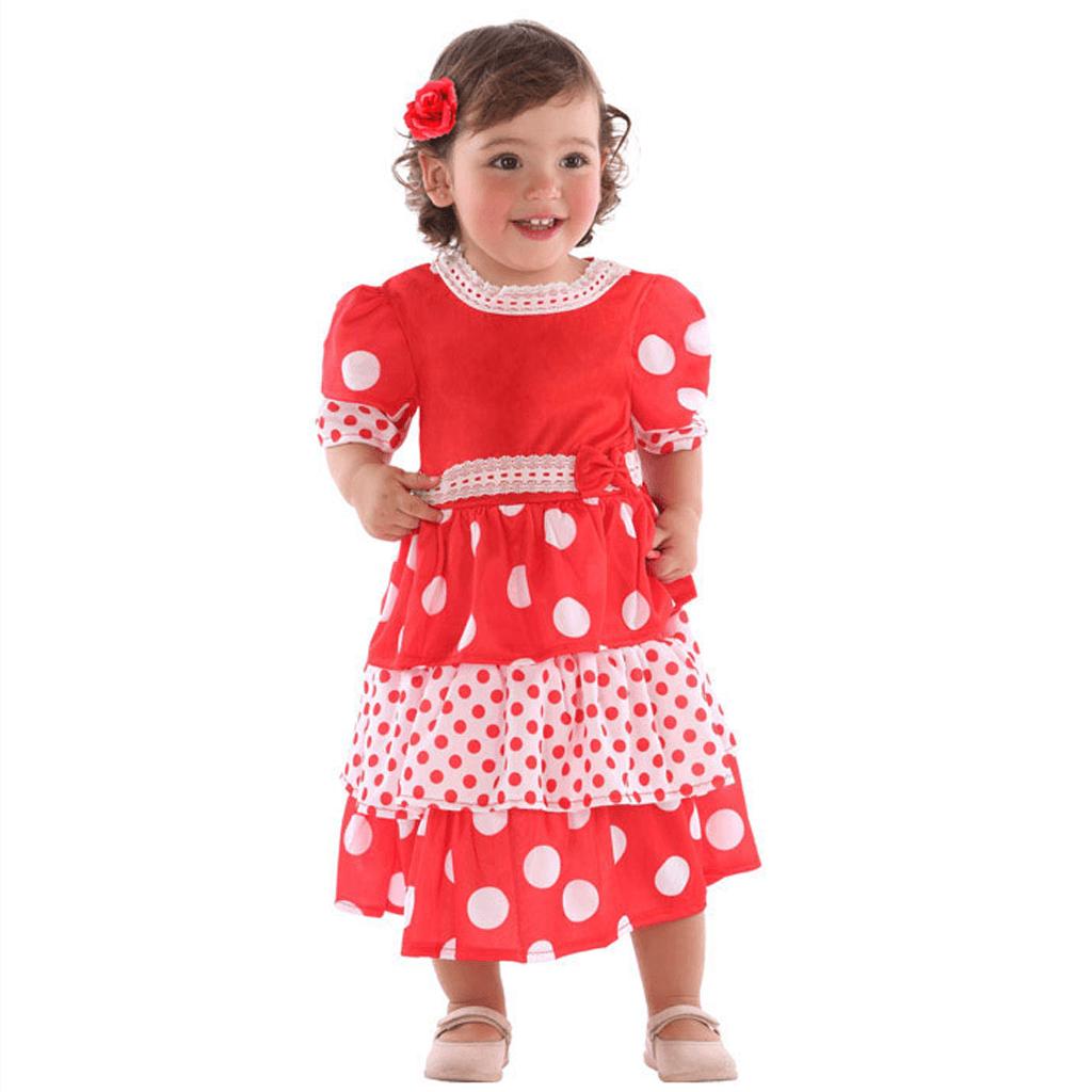 Fato Sevilhana Vermelha, Bebé
