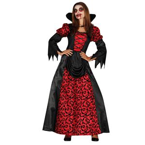 Fato Vampira Elegante Vermelho, Adulto