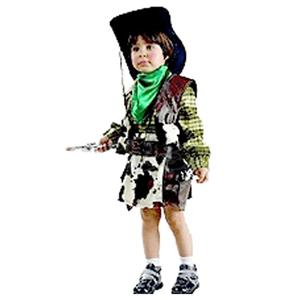 Fato Vaqueira Xadrez, criança