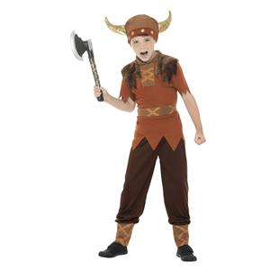 Fato Viking Guerreiro Castanho, Criança