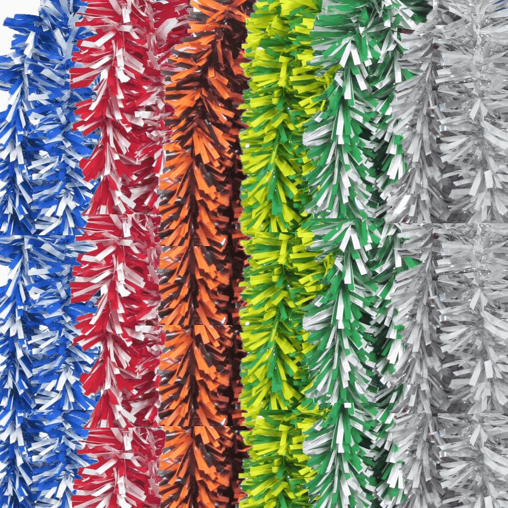 Festões Dupla Cor Plástico, 12 mt - Festas Populares