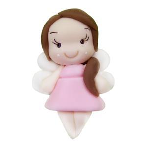 Figura Fadinha Rosa em Biscuit