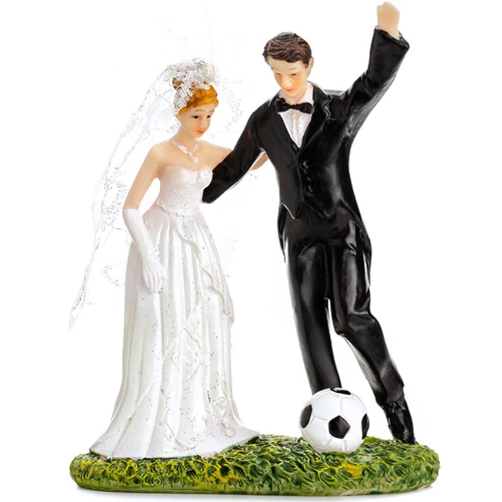 Figura Noivos com Bola de Futebol
