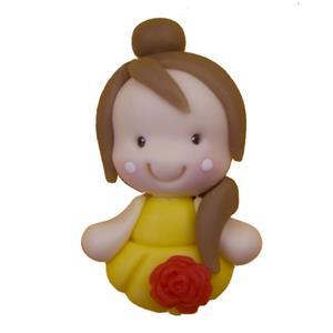 Figura Princesa Bela em Biscuit
