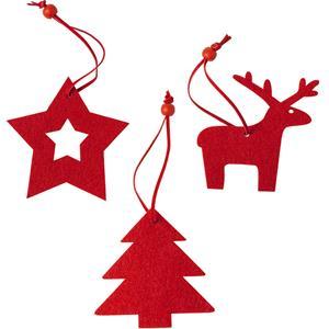 Figuras de Natal em Feltro, 3 unid.