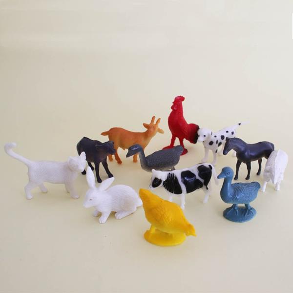 Figuras Decorativas Animais da Quinta, 12 unid.