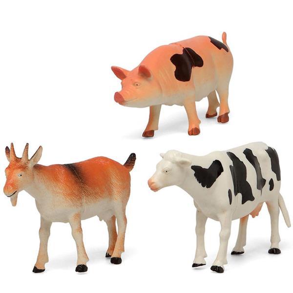 Figuras Decorativas Animais da Quinta, 3 unid.