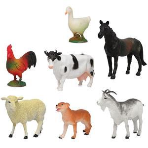 Figuras Decorativas Animais da Quinta, 7 unid.