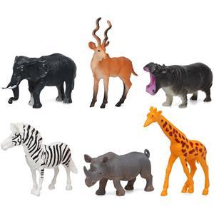 Figuras Decorativas Animais do Zoo, 6 unid.