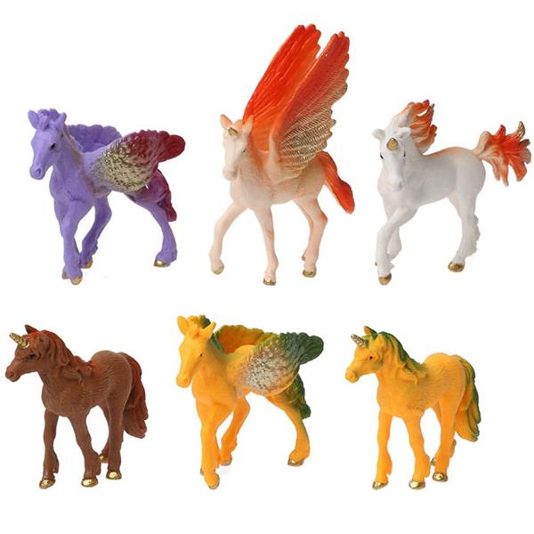 Figuras Decorativas Unicórnios, 6 unid.