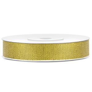 Fita Decorativa Dourado Glitter, 25 mt