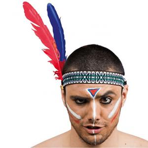 Fita Indio com Penas para Cabeça