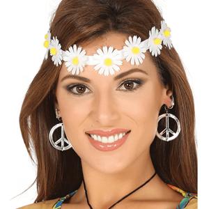 Fita para Cabeça com Flores Brancas